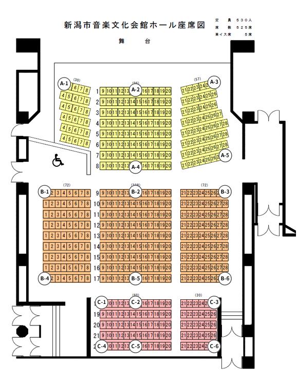 図:ホール座席図