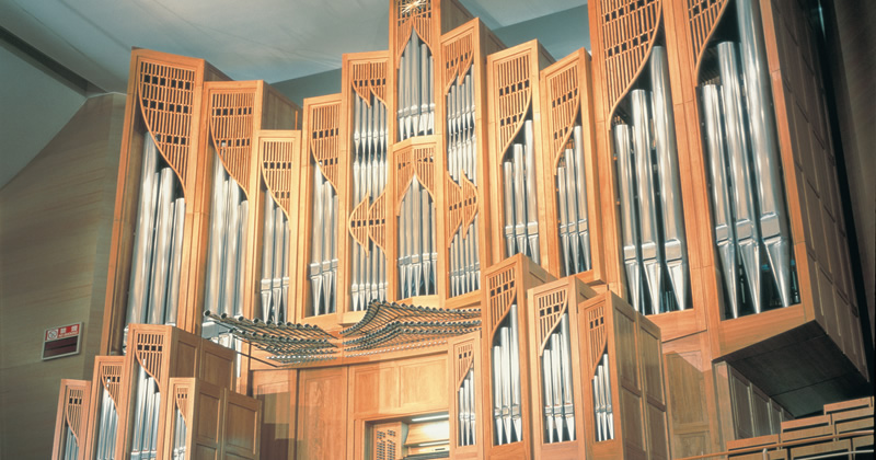 写真:コンサートホールオルガン