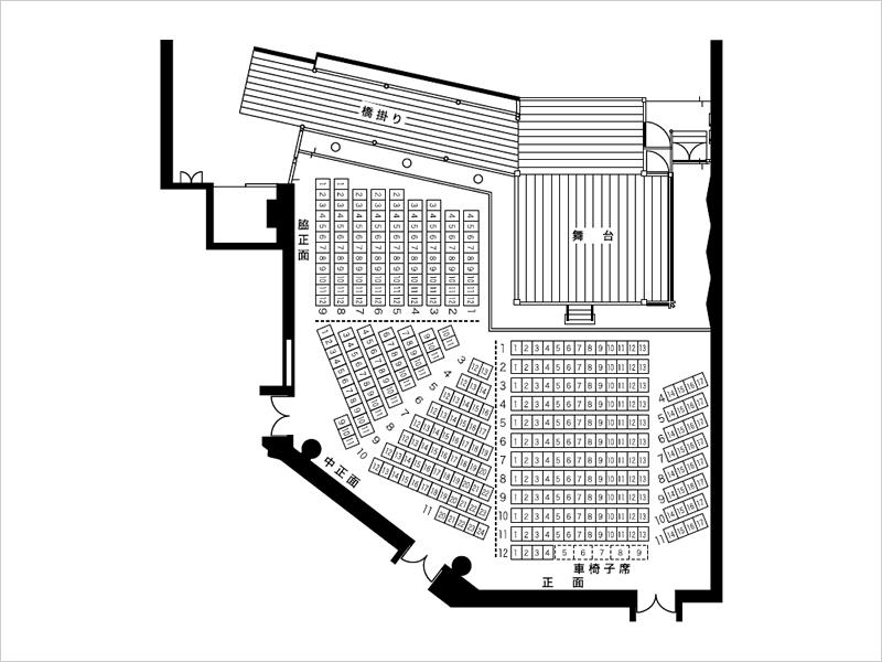 図:能楽堂座席図