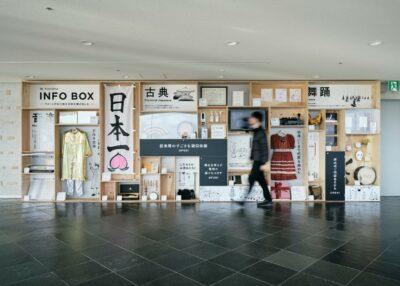 りゅーとぴあの宝物を集めた展示スペース「INFO BOX」ができました